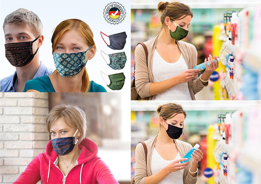 Mund- und Nasen-Masken in unserm Online-Shop